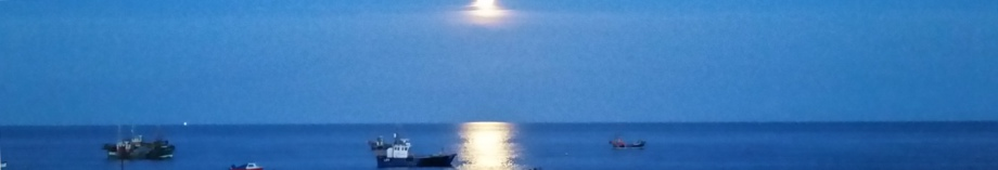 Selsey, West Sussex, by moonlight